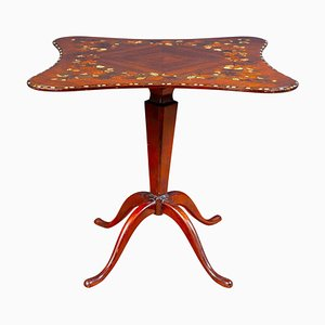 English Regency Inlaid Center Table or Occasional Table, 1815