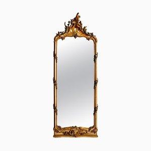 Italienischer bemalter nordischer Spiegel, 18. Jh