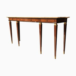 Italian Mid-Century Modern Bronze-Mounted Console Table by Paolo Buffa