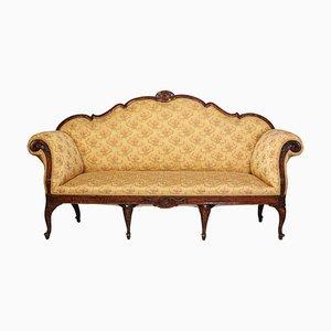 Italienisches Nussholz Sofa, 18. Jh., 1750er