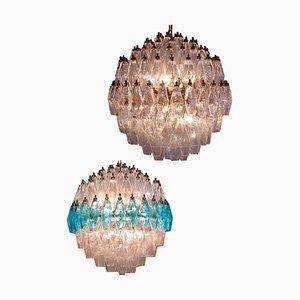 Spherical Poliedri Pendant Lamp in Murano Glass