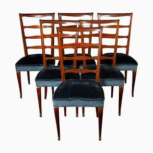 Italienische Mid-Century Esszimmerstühle von Paolo Buffa, 1950er, 6er Set