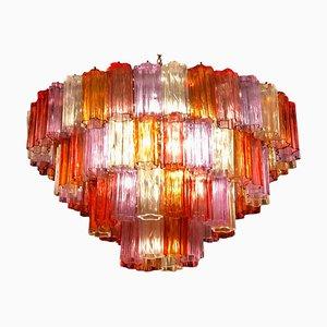 Mid-Century Multicolored Murano Glass Tronchi Chandelier