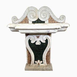 Italienischer Brunnen aus Marmor mit Intarsien, 17. Jh