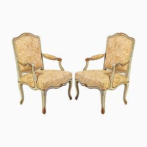 18th-Century Italian Painted Armchairs, Set of 2