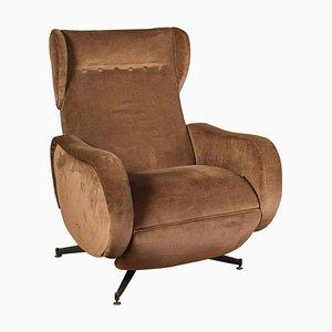 Mid-Century Italian Reclinable Lounge Chair, 1950