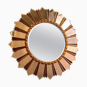 Large Mid-Century Italian Sunburst Mirror, 1960s