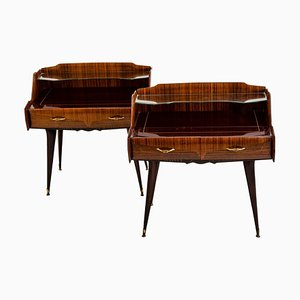 Mid-Century Italian Nightstands in the Style of Paolo Buffa, 1950s, Set of 2
