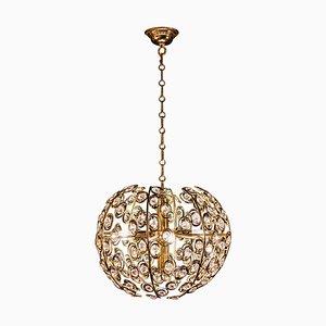 Mid-Century Diamond Crystal Globe Chandelier by Gaetano Sciolari, 1960