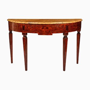 Italian 18th-Century Marquetry Console Table