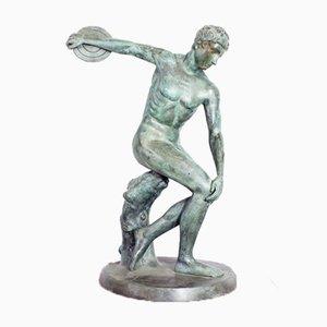 Statue en Bronze de la Discobole de Myron, 1950s