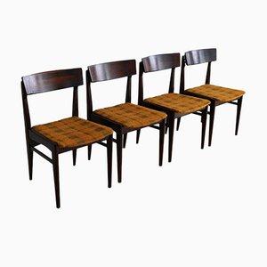 Sedie da pranzo in palissandro, set di 4