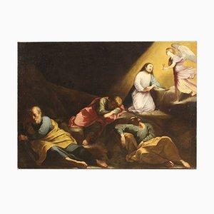 Antike italienische Malerei, Jesus im Garten der Oliven, 17. Jh