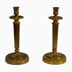 Golden Bronze Torches, Early 20th Century, Set of 2