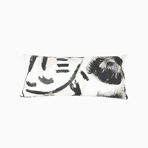 Black Two Hue Painted Rectangle Pillow by Fort Makers