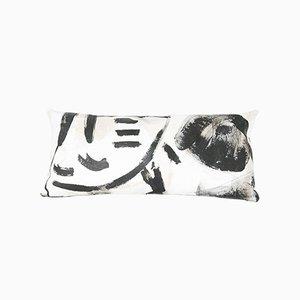 Cuscino rettangolare bianco e nero di Fort Makers