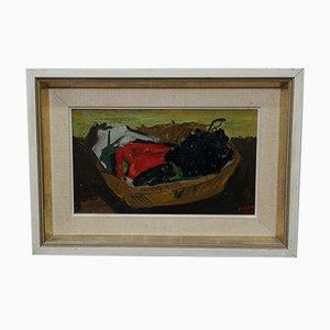 Ove Olson, Schwedische Moderne Gemälde, 1956, Öl auf Holz