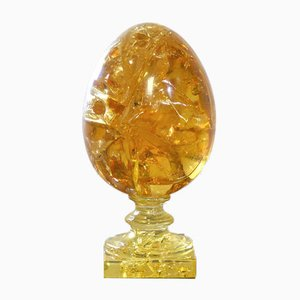 XXL Fractal Resin Egg by Pierre Giraudon