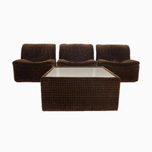 Modell Emmetre Sessel und Tisch von Guido Fareschini für Mariani, 1970er, 4er Set