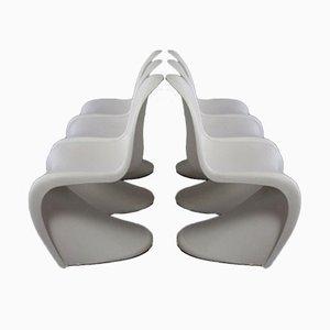 Panton Stühle von Verner Panton für Vitra, 6er Set