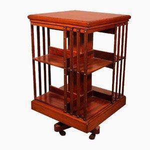 Revolving Bookcase with Iron Base in Mahogany
