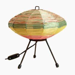 Raffia Table Lamp, Italy, 1950s