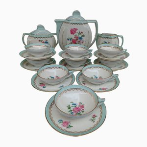 Coffee Service by Charles Ahrenfeldt for Limoges Porcelain, Set of 21