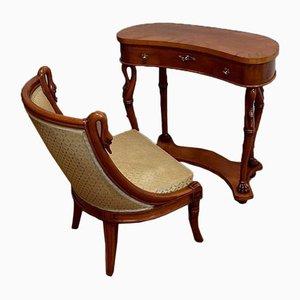 Frisiertisch und Stuhl, 1950er, 2er Set