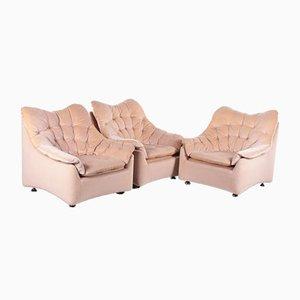 Vintage Velvet Lounge Chair, 1970s