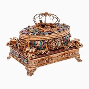 Máquina de juegos Songbird rusa, década de 1880