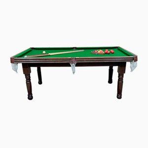 English Mahogany Billiards Table, 1950s