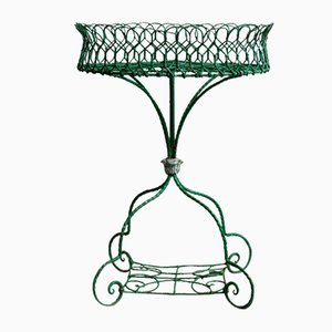 English Flower Stand in Wire Mesh, 1860s