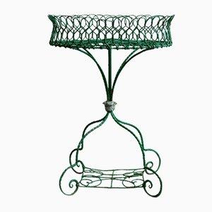 Jardinera inglesa de malla de alambre, década de 1860