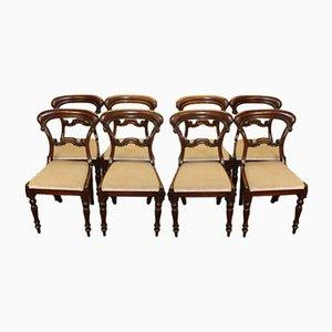 Viktorianische Hoop Back Esszimmerstühle, 1900er, 8er Set