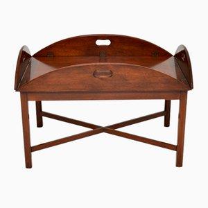 Antique Mahogany Butler Tray Top Coffee Table