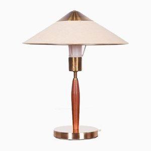Mid-Century Tischlampe aus Teak & Messing, 1960er