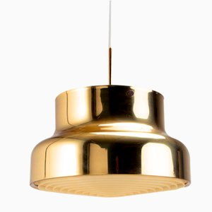 Brass Bumling Pendant Light by Anders Pehrson for Ateljé Lantern, Sweden, 1960s