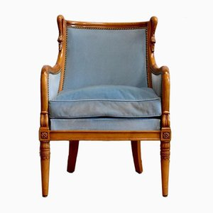 Directory Style Beech Chair, Mid-20th Century