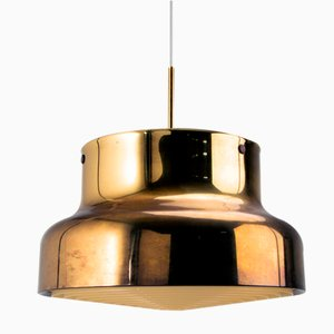 Patinated Brass Bumling Pendant Light by Anders Pehrson for Ateljé Lantern, Sweden, 1960s