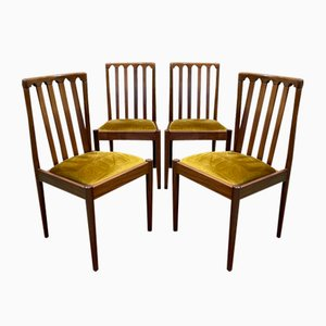 Teak Chairs, 1970s, Set of 4