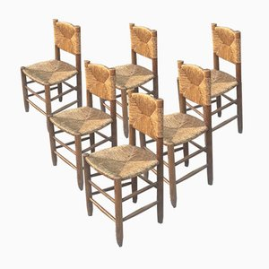 Number 18 Chairs by Charlotte Perriand, 1950s, Set of 6