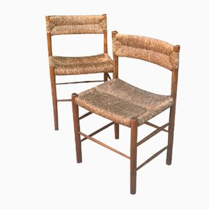 Modell Dordogne Stühle von Charlotte Perriand für Robert Sentou Edition, 1968, 2er Set