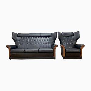Divano e sedia Mid-Century, set di 2