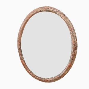 Specchio da parete antico in legno intagliato, fine XIX secolo