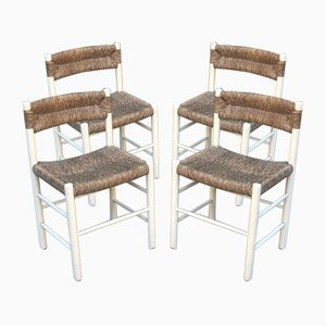 Model Dordogne Chairs by Charlotte Perriand Robert Sentou Edition, 1968, Set of 4