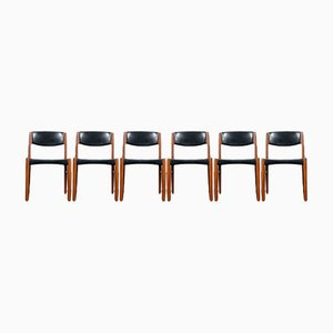 Vintage Teak Dining Chairs from Glostrup Denmark, 1960s, Set of 6