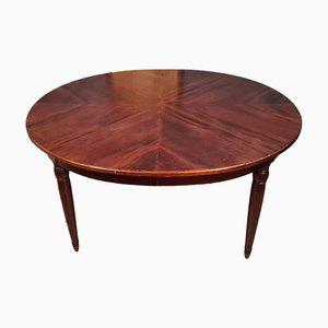 Art Deco Tisch mit Legierungen aus Mahagoni