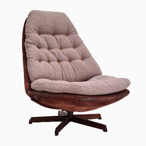 Danish Lounge Chair by Madsen & Schubell, 1970s