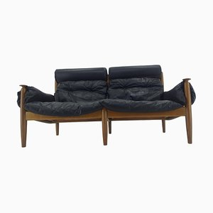 Leather Sofa Sergio Rodrigues for Profilia Werke, 1960s