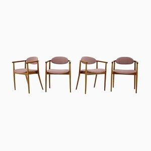 Chaises de Salle à Manger par Antonin Suman pour Ton/Thonet, Tchécoslovaquie, 1960s, Set de 4